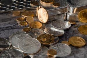 Coins gold silver