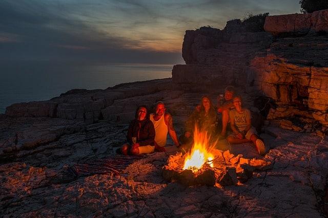 Making campfire